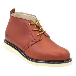 "Men's 5"" Arizona II Classic Chukka Work Boots Redwood Tanned Leather"